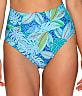 Wild Palms Fold-Over High-Waist Bikini Bottom