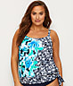 Plus Size Bungalow Bay Blouson Tankini Top
