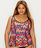 Plus Size Tribe Vibe Wire-Free Tankini Top