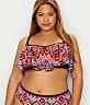 Plus Size Tribe Vibe Flounce Underwire Bikini Top