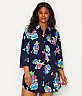 Plus Size Floral Print Knit Sleep Shirt