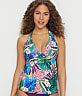 Island Safari Muse Halter Underwire Tankini Top