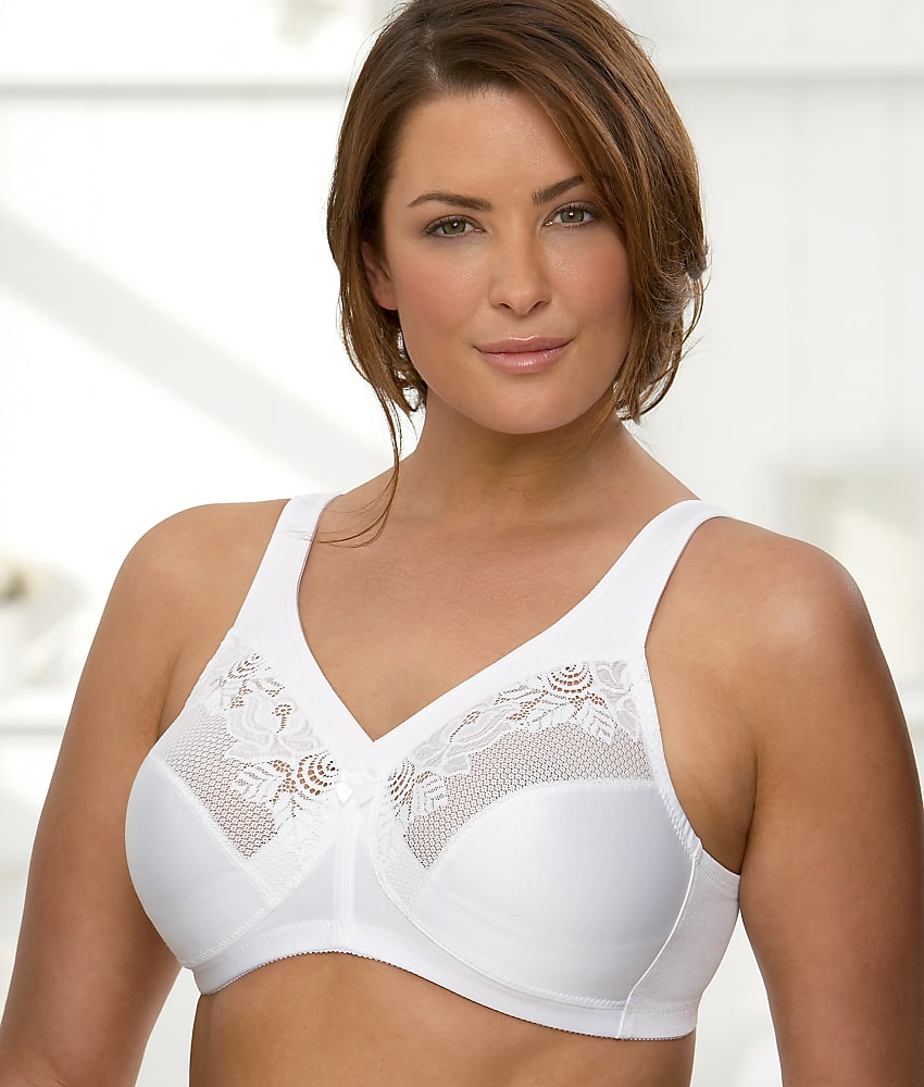 ad7ccb2ba Glamorise 1003 Magic Lift Full Figure Minimizer Bra 44 D White 44d ...