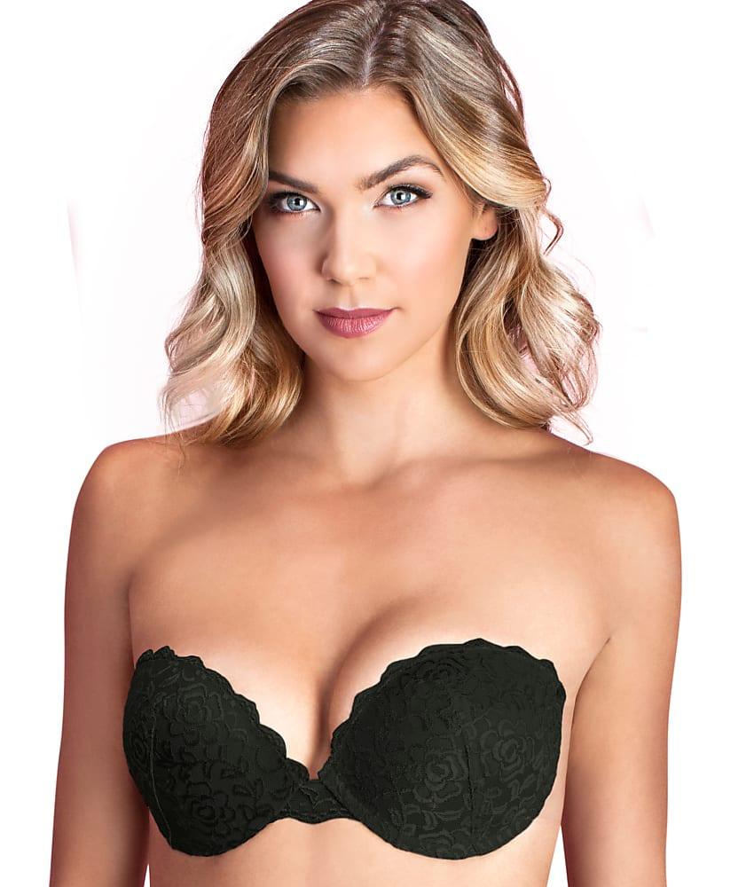 8d51de0b79 Fashion Forms 9228 Womens Black Lace Push-up Backless Strapless Bra ...