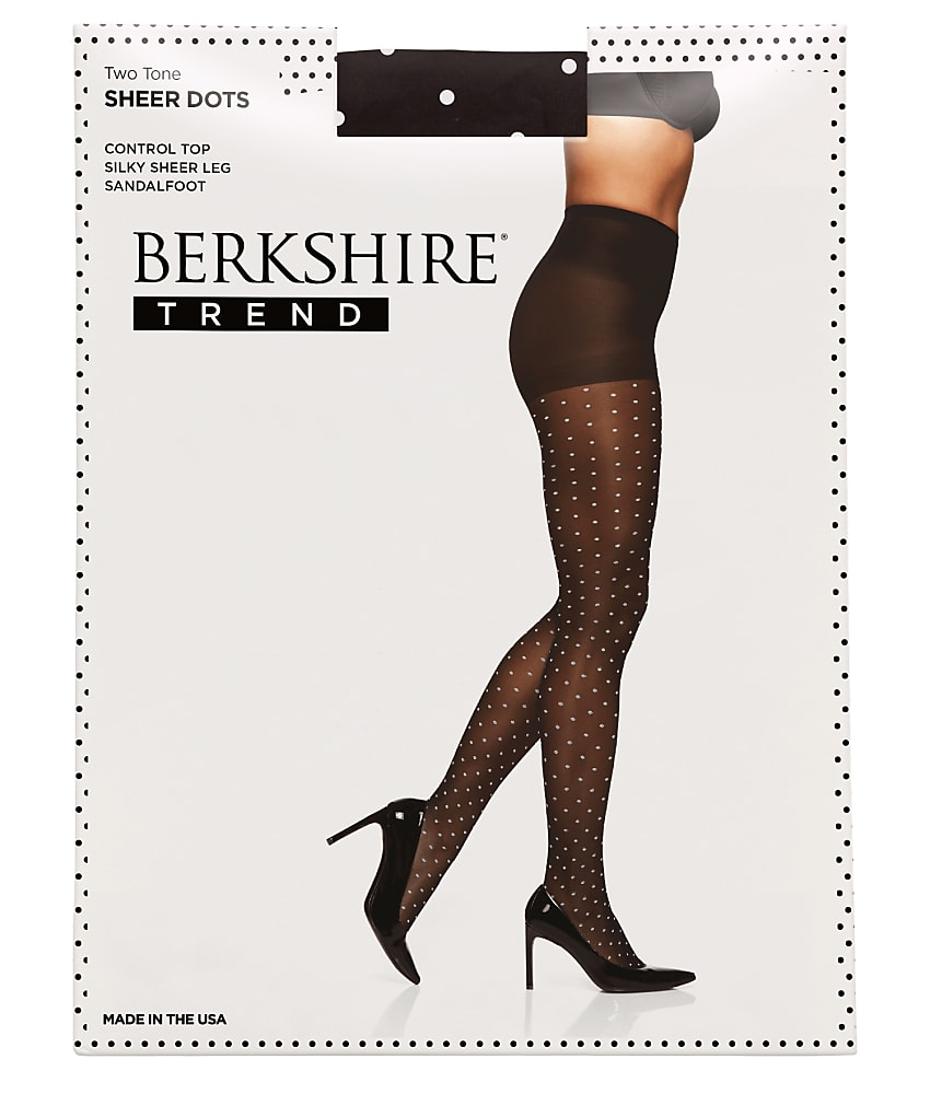 c2aa8eacc60 Berkshire Two Tone Sheer Dots Pantyhose Hosiery - Women s