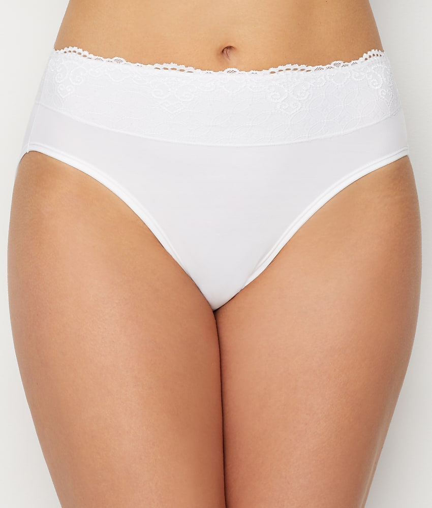 Women/'s Bali Smooth Passion For Comfort Lace Hi Cut Brief Panty