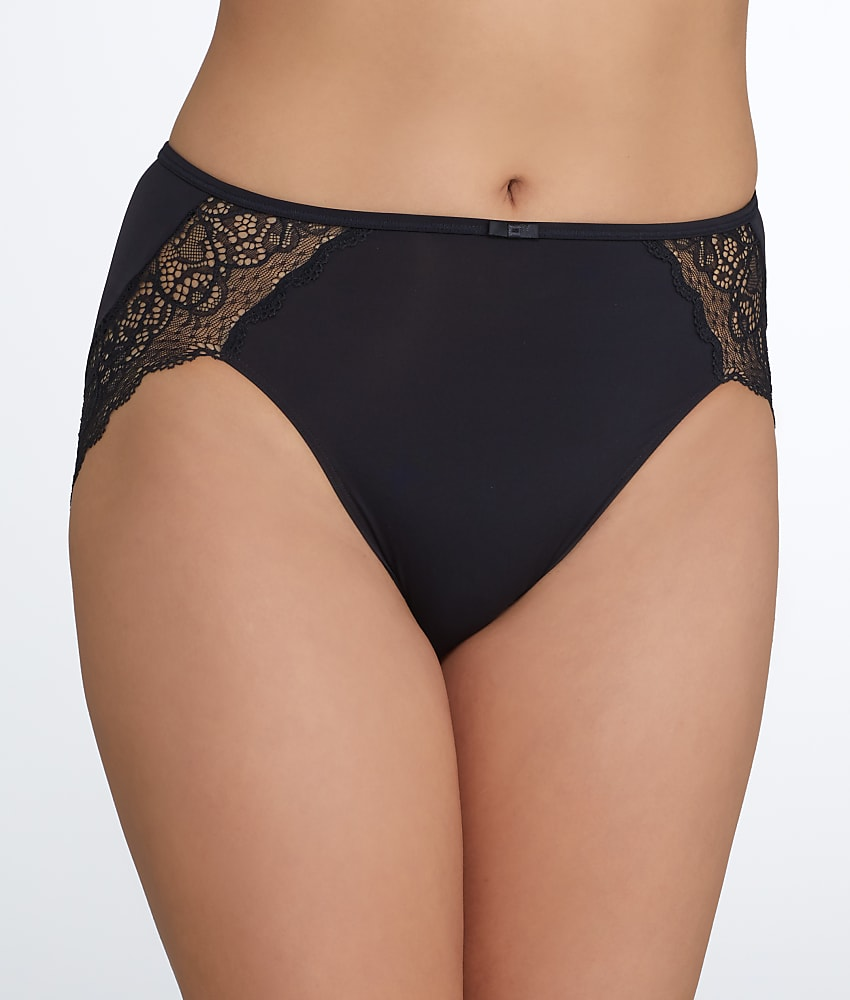 Bali Lace Desire Microfiber Hi-Cut Brief Panty