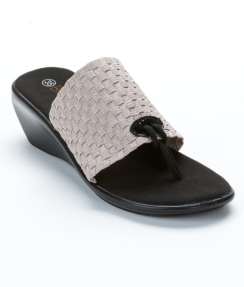 bernie mev florida woven stretch wedge sandals shoes