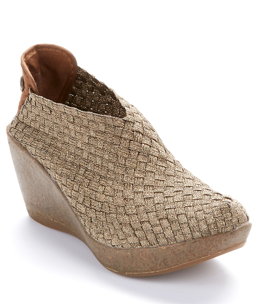 bernie mev woven stretch wedges shoes