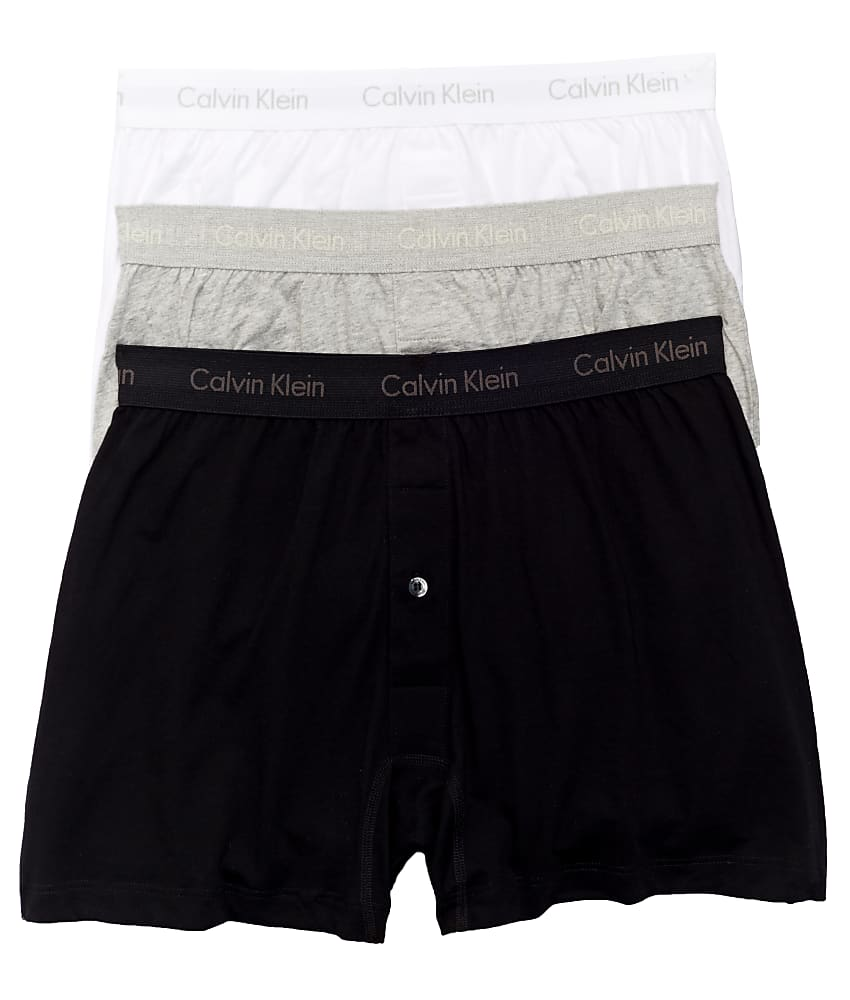 Calvin-Klein-Cotton-Knit-Boxer-3-Pack-Underwear-Men-039-s thumbnail 16