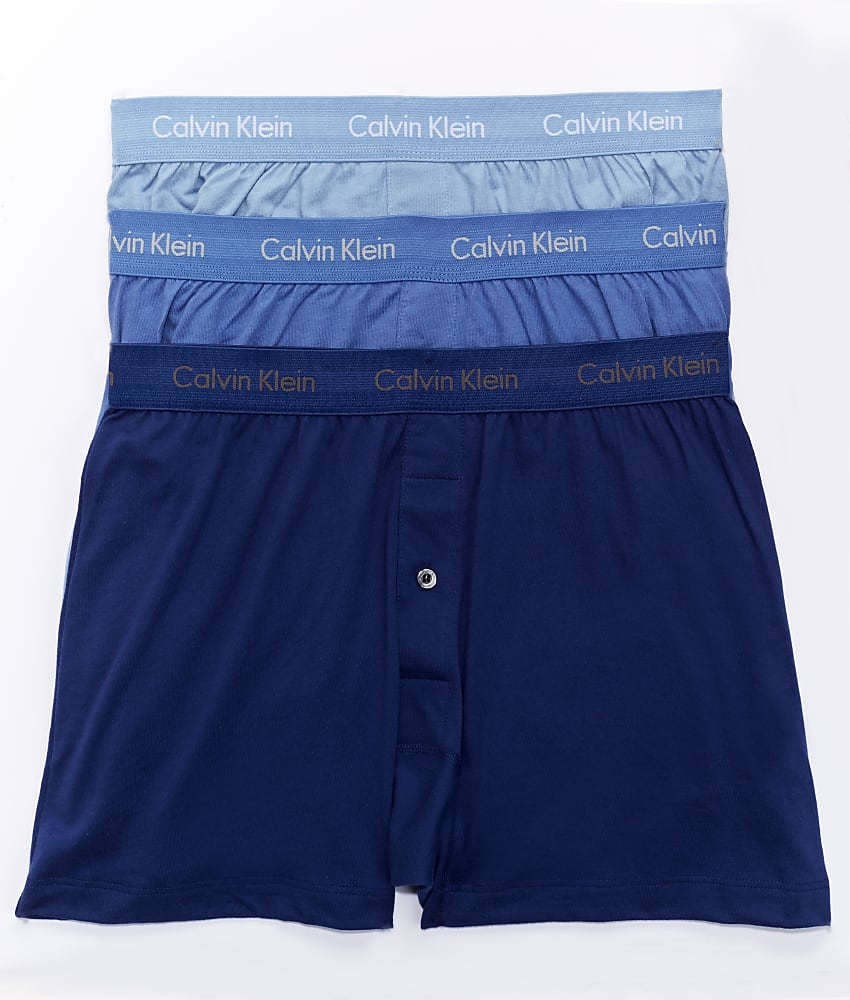 Calvin-Klein-Cotton-Knit-Boxer-3-Pack-Underwear-Men-039-s thumbnail 19