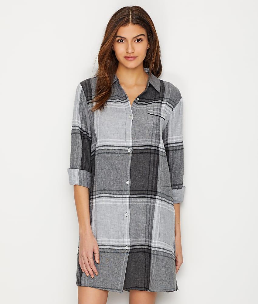 1e8986768e Donna Karan Flannel Sleep Shirt - Women s