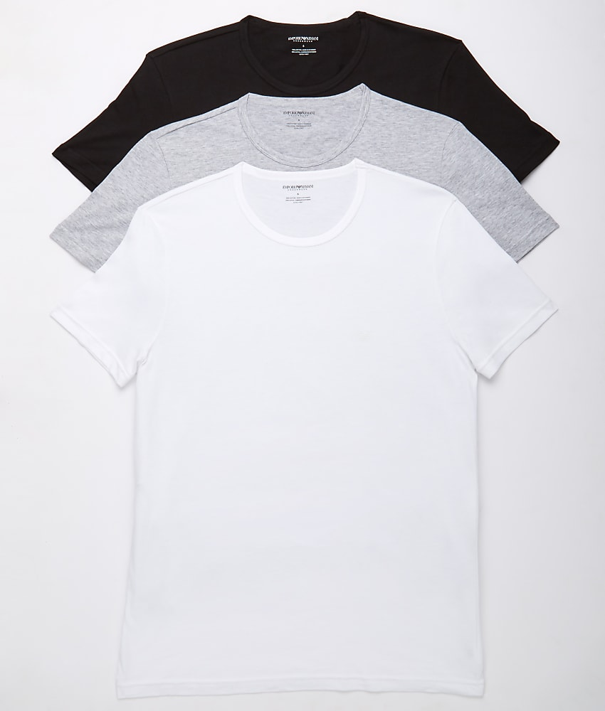 Купить Emporio Armani Pure Cotton Crew Neck T-Shirt 3-Pack на eBay ... 52e062bf692