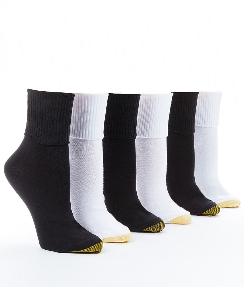 Gold Toe Anklet Low-Cut Socks 6-Pack Hosiery - Women's | eBay