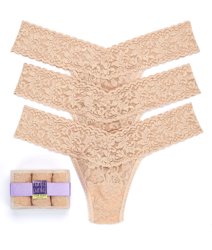 339efc5a63b Hanky Panky Signature Lace Low Rise Thong 3-Pack Panty - Women s