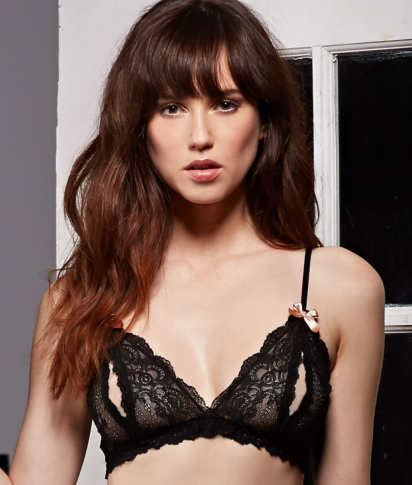 44e91c083999c Hanky Panky Women s Luxe Lace Open Bralette 977901 Black Bra SM. About this  product. Picture 1 of 3 ...