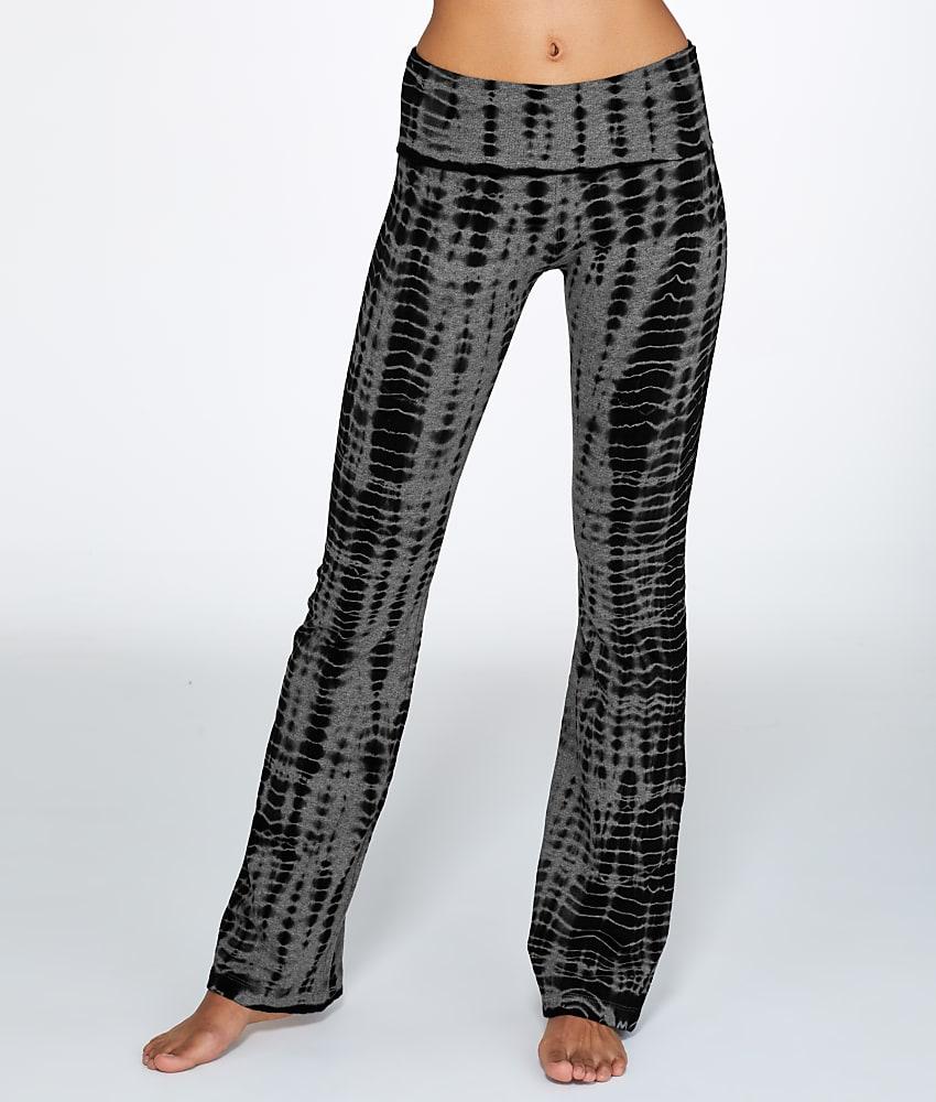 Hard Tail Rolldown Printed Boot Leg Yoga Pant Activewear