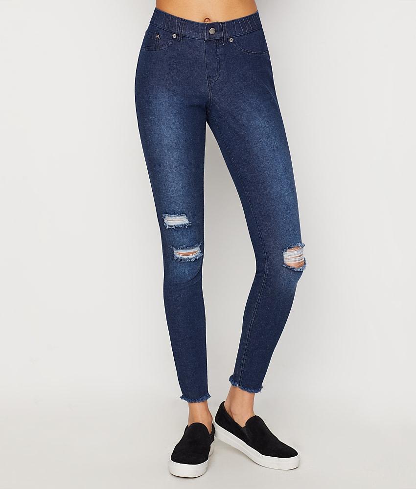 2d2e01eaacd97 HUE Ripped Denim Leggings Hosiery - Women's   eBay