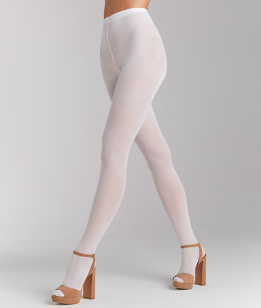 8093a7ff18b HUE 4689 Opaque Sheer to Waist Tights 3 White for sale online