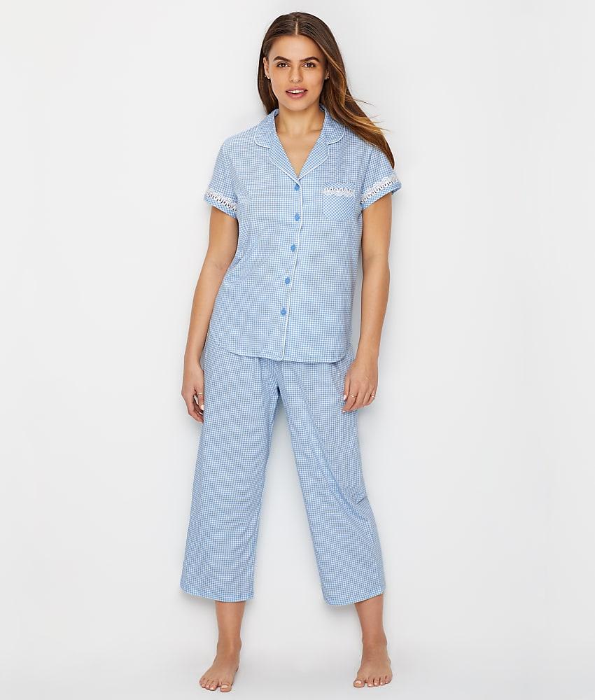 752c10371d0c Karen Neuburger Girlfriend Knit Cropped Pajama Set - Women s