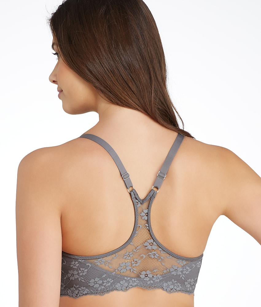 The Curvation Back Smoother Underwire Bra is the perfect full coverage bra with lined, molded stretch cups and a tall back that helps minimize back fat. Curvation's Back Smoother Underwire Bra has a tall center panel that is especially designed for free movement, perfect for full-figure women.