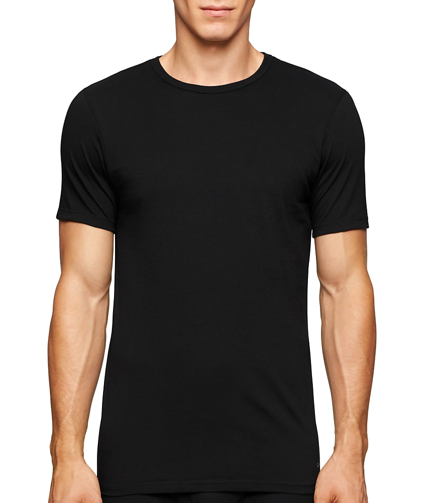 details about calvin klein slim fit cotton t shirt 3 pack men 39 s. Black Bedroom Furniture Sets. Home Design Ideas