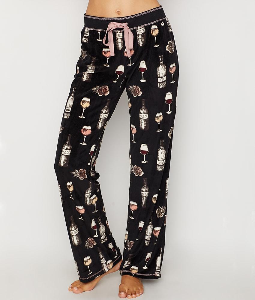 53b8f7b27e11 P.J. Salvage Smell The Rose Velour Pajama Pants - Women's | eBay
