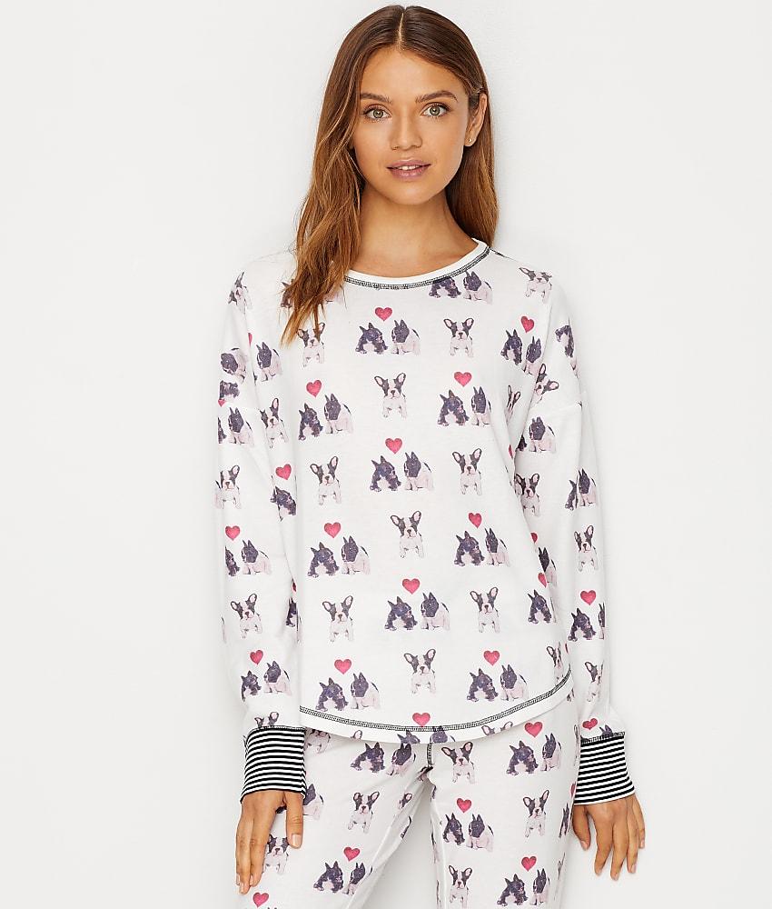 38d7fa5c2884 P.J. Salvage I Woof You Knit Pajama Top - Women's | eBay