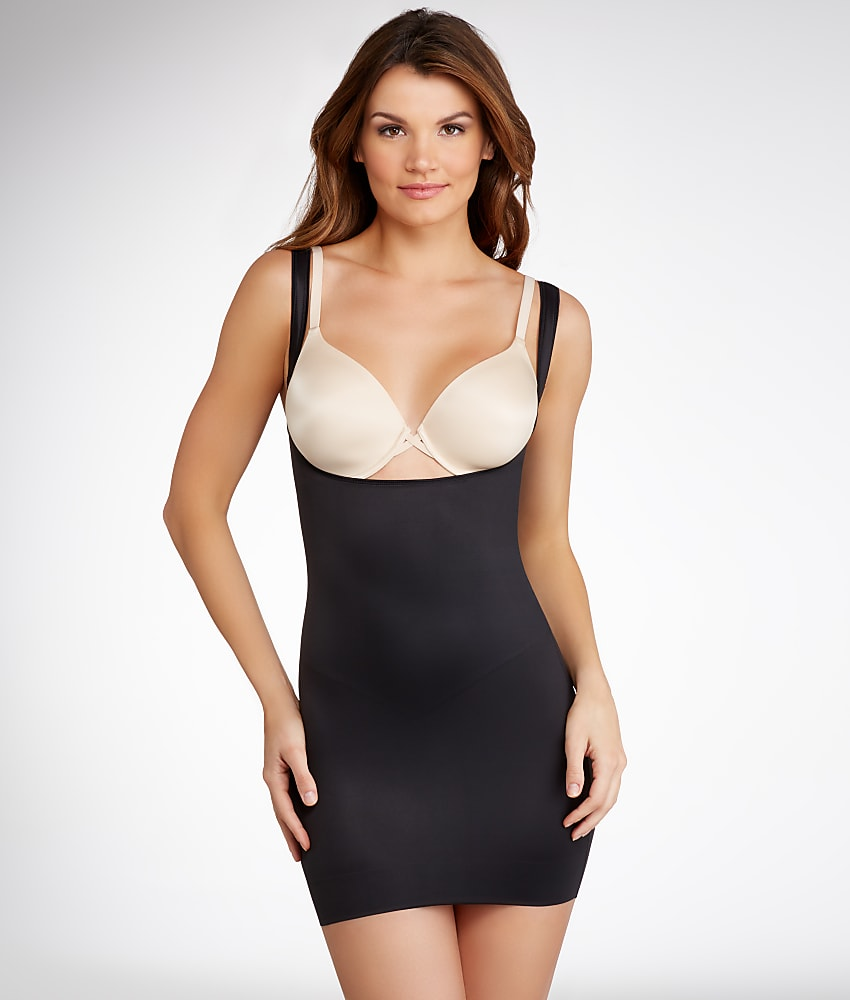 TC Fine Intimates Firm Control Torsette Open-Bust Slip Shapewear Women/'s #4240