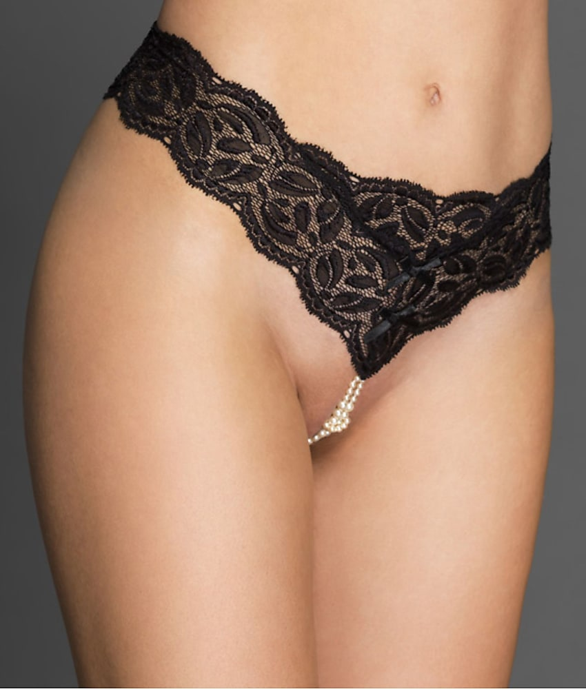 33c3dfa300 Bracli Paris Collection Double Strand Pearl Thong Panty - Women s
