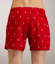 See Polo Player Woven Boxer in Red