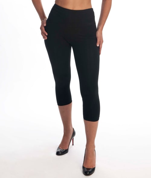 Lyssé 3X Black Medium Control Capri Leggings Plus Size