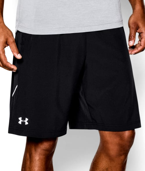 "Under Armour M Black UA Launch 9"" Shorts 93PC630"