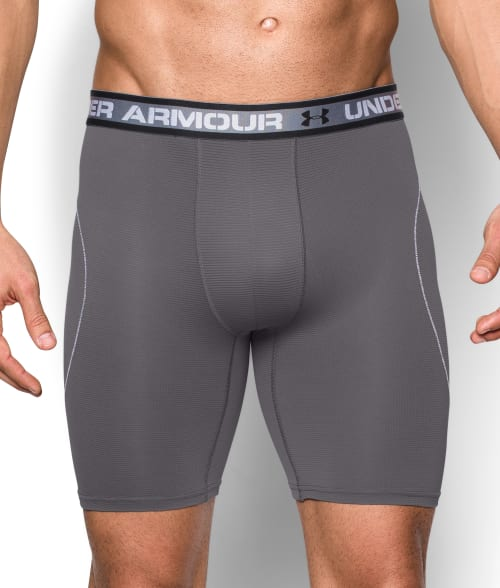 "Under Armour S Black Iso-Chill 9"" Boxerjock Boxer Brief 93DY120"
