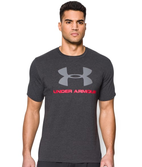 Under Armour L True Grey UA Sportstyle Logo T-Shirt 93W9H40
