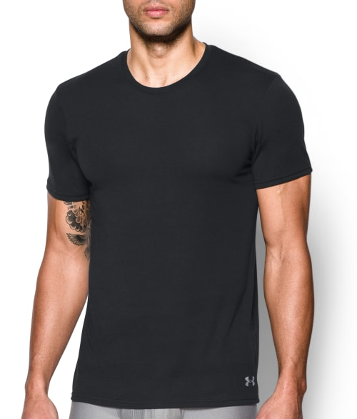 Under Armour L Black UA Signature Undershirt 2-Pack 93OSV40