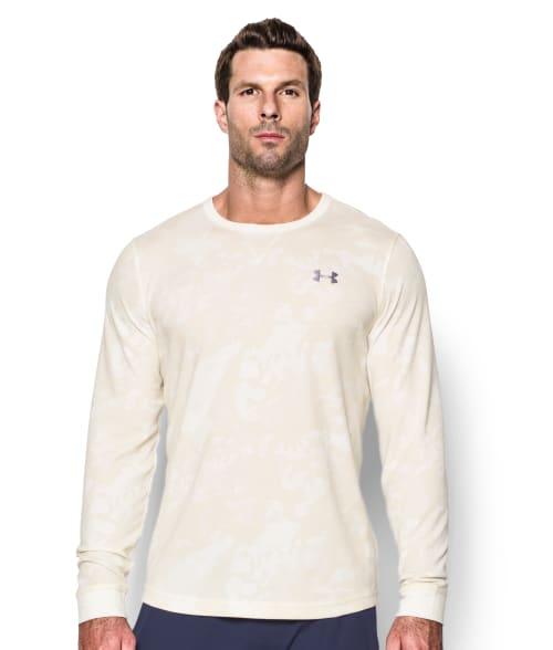 Under Armour S Ivory Waffle Knit T-Shirt 93R7H20