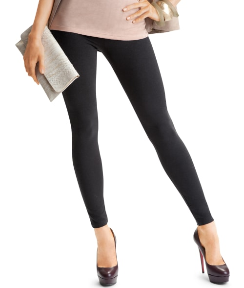 HUE L Black Ultra Leggings With Tummy Control 92Z3340