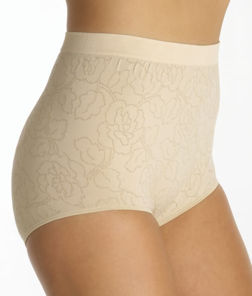 Image of Vanity Fair 6/7 Damask Neutral Perfectly Yours Seam-free Jacquard Full Brief