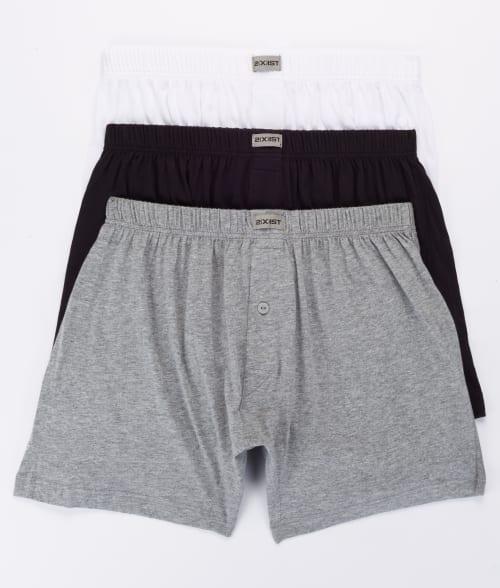 2(x)ist XL White /Black/Heather Knit Boxer 3-Pack 93L1450