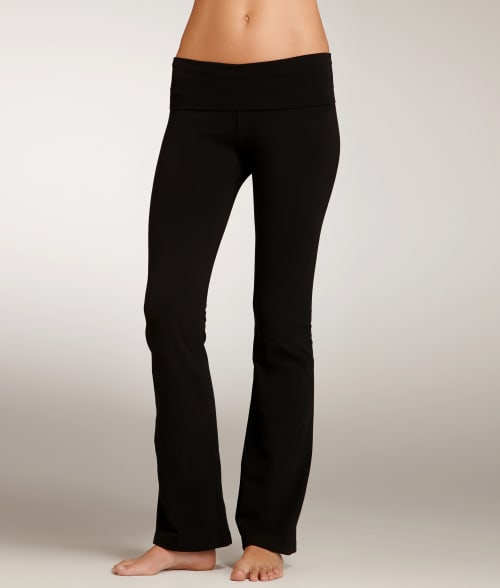 Hard Tail XS Black Rolldown Boot Leg Yoga Pants 9549010