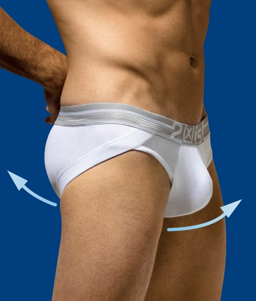 2(x)ist S White Lift No Show Hip Brief 92F1D20