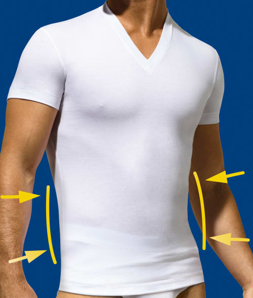2(x)ist M White Shape Form Slimming T-Shirt 92JA830