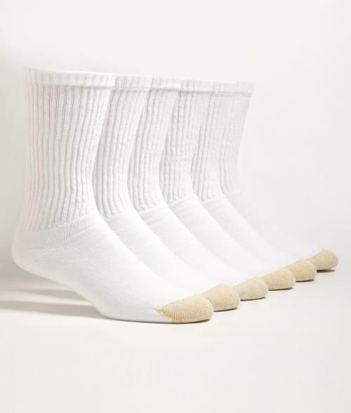 Gold Toe One Size Black Crew Sport Socks 6-Pack 92SGM10