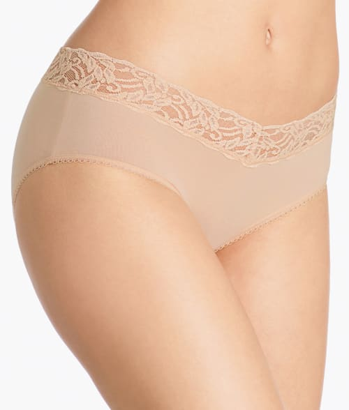 Wacoal 5 Nude Cotton Suede Hipster 938PQ60