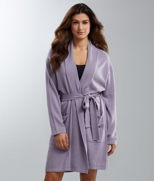 Image of Arlotta Medium Purple Haze Short Cashmere Robe