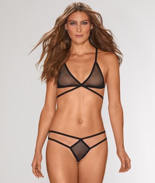 Bluebella 8/XS Black Reese Bra and Bikini Set 940QJ10
