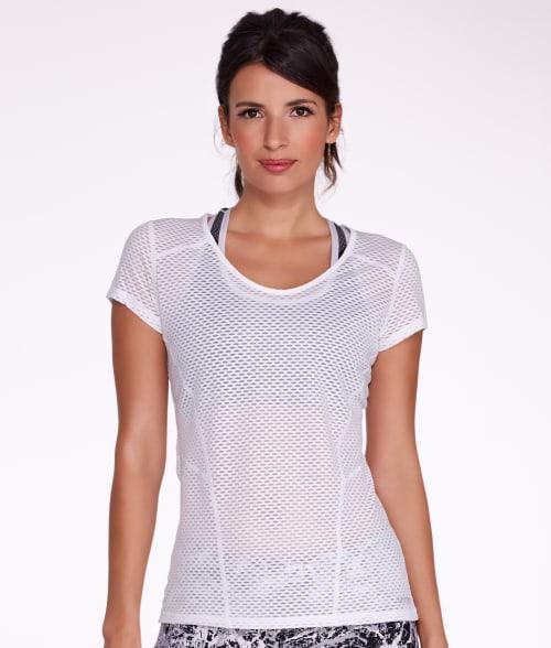 Calvin Klein L White Performance Mesh T-Shirt 93VEH40