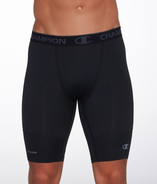 "Champion M Black Powerflex 9"" Compression Boxer Brief 93KUO30"