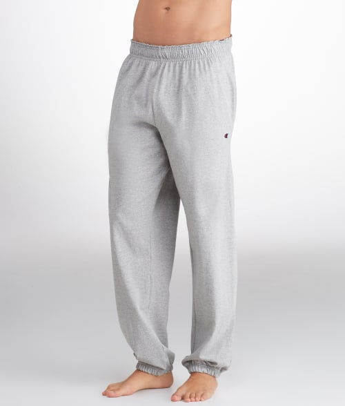 Champion L Oxford Grey Jersey Sweatpants 93IKH40